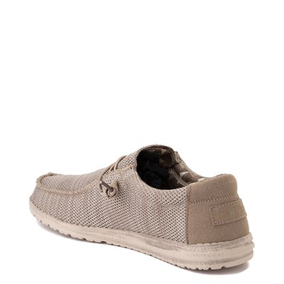 Alternate view of Mens Hey Dude Wally Sox Casual Shoe - Beige