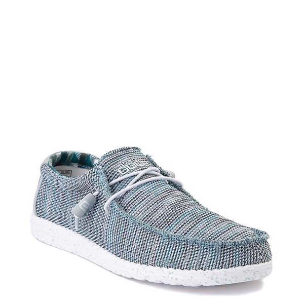 alternate view Mens Hey Dude Wally Sox Casual Shoe - Ice GrayALT5