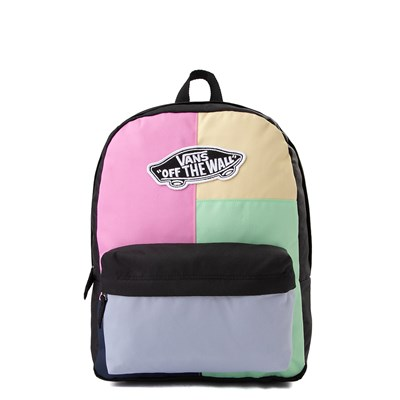 Main view of Vans Realm Pastel Checkwork Backpack - Multi