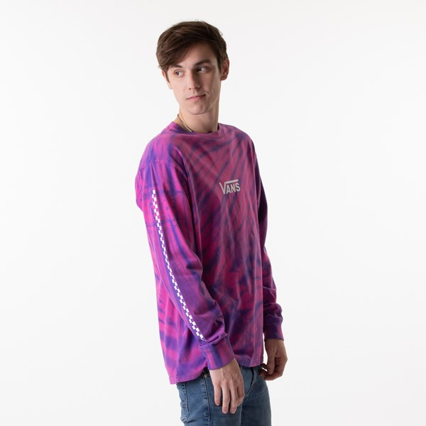 alternate view Mens Vans Checkered Tie Dye Long Sleeve Tee - Fuchsia / PurpleALT2
