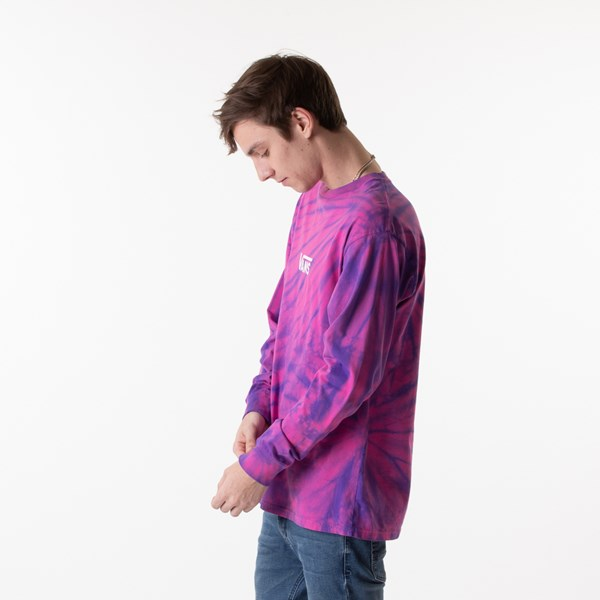 alternate view Mens Vans Checkered Tie Dye Long Sleeve Tee - Fuchsia / PurpleALT3