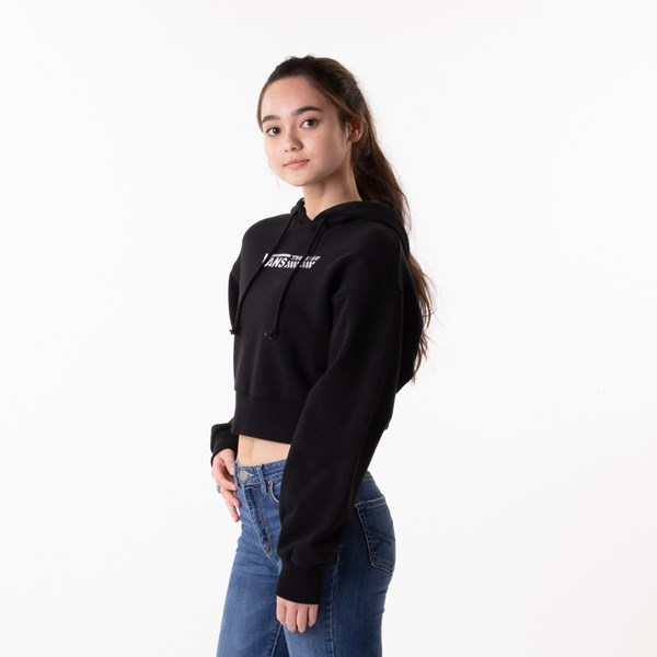 alternate view Womens Vans Strait Out Turvy Cropped Hoodie - BlackALT4