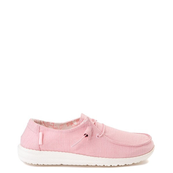Womens Hey Dude Wendy Slip On Casual Shoe - Pink