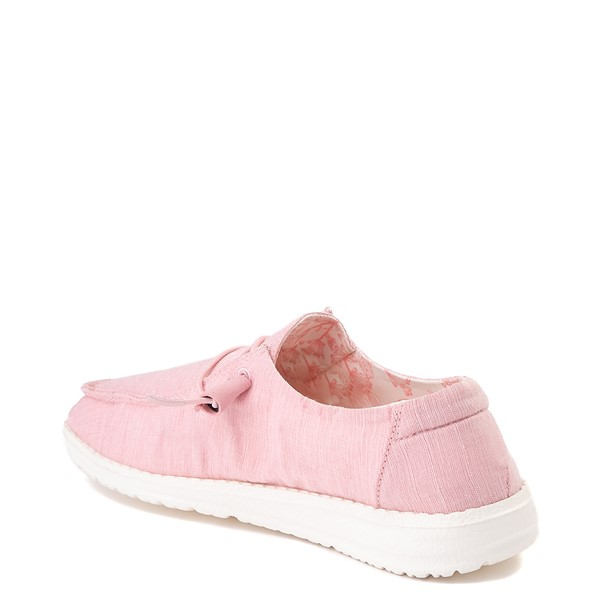 alternate view Womens Hey Dude Wendy Slip On Casual Shoe - PinkALT1