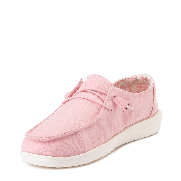 alternate view Womens Hey Dude Wendy Slip On Casual Shoe - PinkALT2