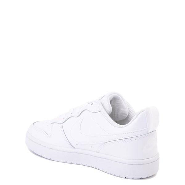 alternate view Nike Court Borough 2 Low Atheltic Shoe - Big Kid - White MonochromeALT2