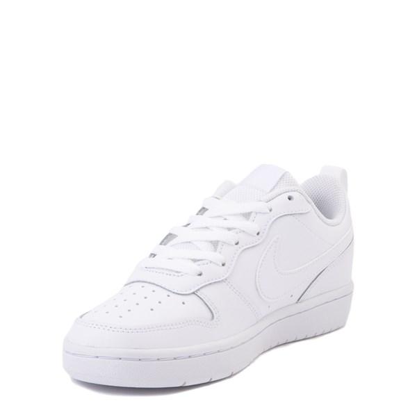 alternate view Nike Court Borough 2 Low Atheltic Shoe - Big Kid - White MonochromeALT3