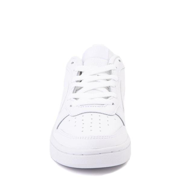 alternate view Nike Court Borough 2 Low Atheltic Shoe - Big Kid - White MonochromeALT4
