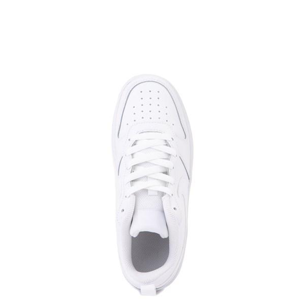 alternate view Nike Court Borough 2 Low Atheltic Shoe - Big Kid - White MonochromeALT4B
