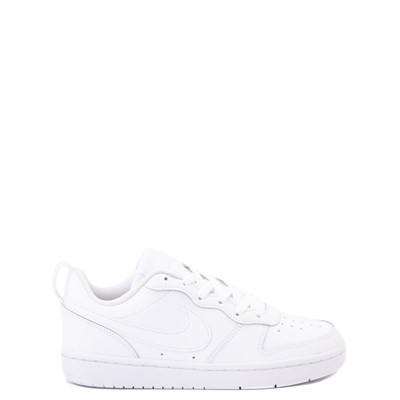 Main view of Nike Court Borough 2 Low Atheltic Shoe - Big Kid - White Monochrome