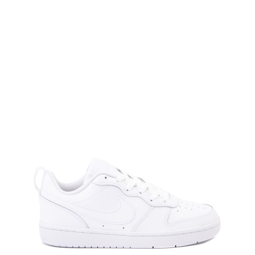 Nike Court Borough 2 Low Atheltic Shoe - Big Kid - White Monochrome