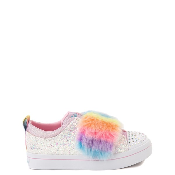 Skechers Twinkle Toes Twi-Lites Ooh La Fur Sneaker - Little Kid - White / Multi