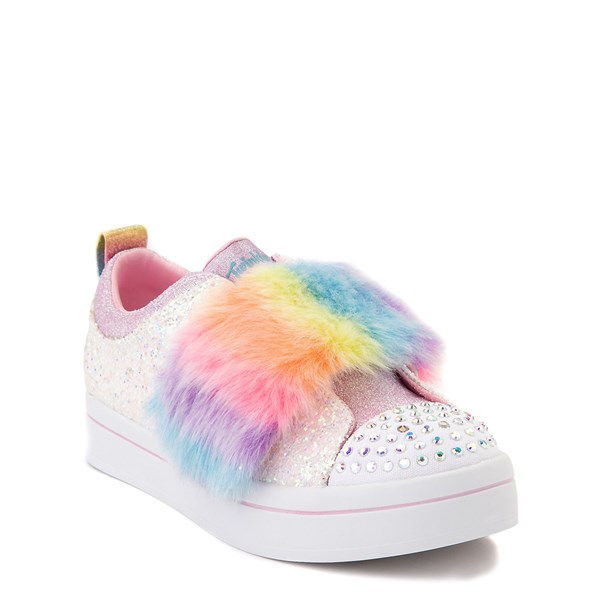 alternate view Skechers Twinkle Toes Twi-Lites Ooh La Fur Sneaker - Little Kid - White / MultiALT1B