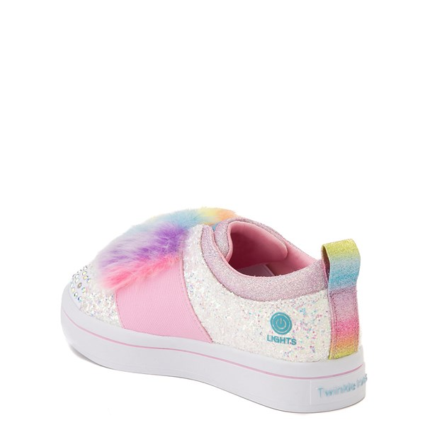 alternate view Skechers Twinkle Toes Twi-Lites Ooh La Fur Sneaker - Little Kid - White / MultiALT2