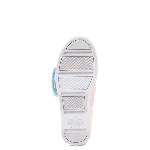 alternate view Skechers Twinkle Toes Twi-Lites Ooh La Fur Sneaker - Little Kid - White / MultiALT5