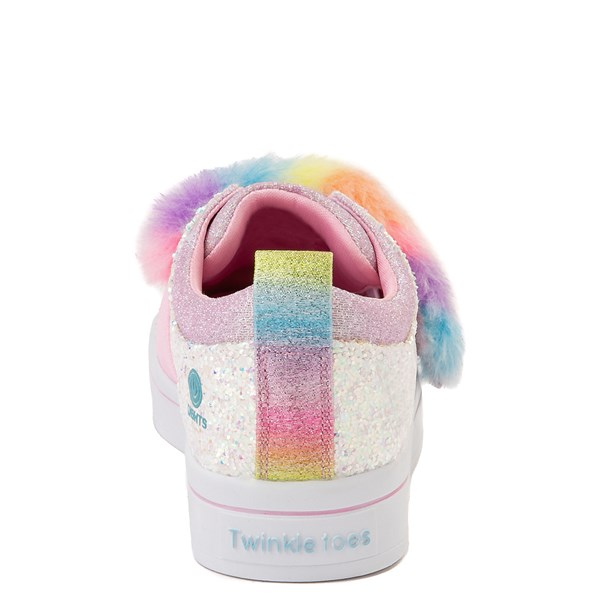 alternate view Skechers Twinkle Toes Twi-Lites Ooh La Fur Sneaker - Little Kid - White / MultiALT6