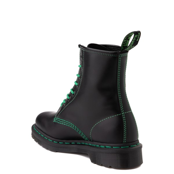 alternate view Dr. Martens 1460 Contrast Stitch 8-Eye Boot - Black / GreenALT2-2