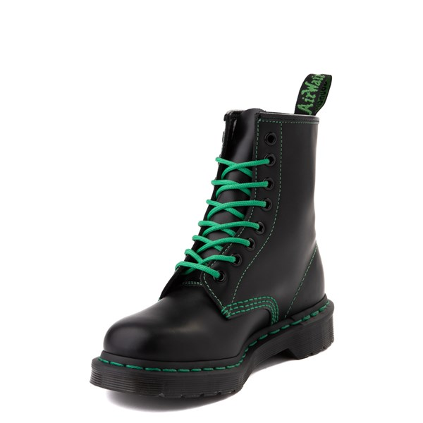 alternate view Dr. Martens 1460 Contrast Stitch 8-Eye Boot - Black / GreenALT3