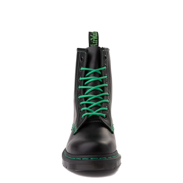 alternate view Dr. Martens 1460 Contrast Stitch 8-Eye Boot - Black / GreenALT4