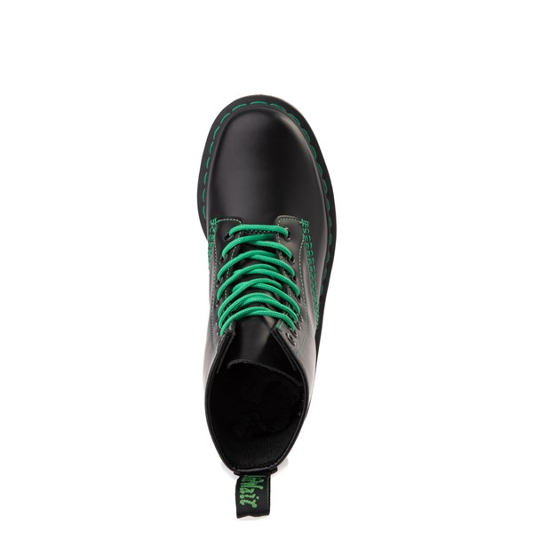 alternate view Dr. Martens 1460 Contrast Stitch 8-Eye Boot - Black / GreenALT4B
