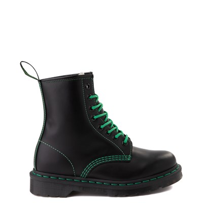 Main view of Dr. Martens 1460 Contrast Stitch 8-Eye Boot - Black / Green