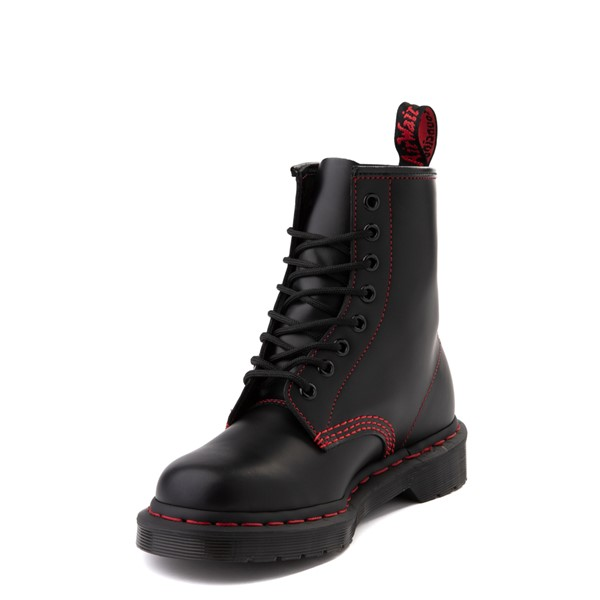 alternate view Dr. Martens 1460 Contrast Stitch 8-Eye Boot - Black / RedALT3