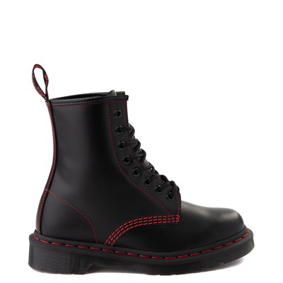 Main view of Dr. Martens 1460 Contrast Stitch 8-Eye Boot - Black / Red