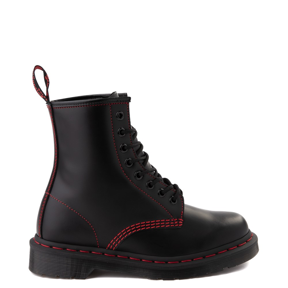 Dr. Martens 1460 Contrast Stitch 8-Eye Boot - Black / Red