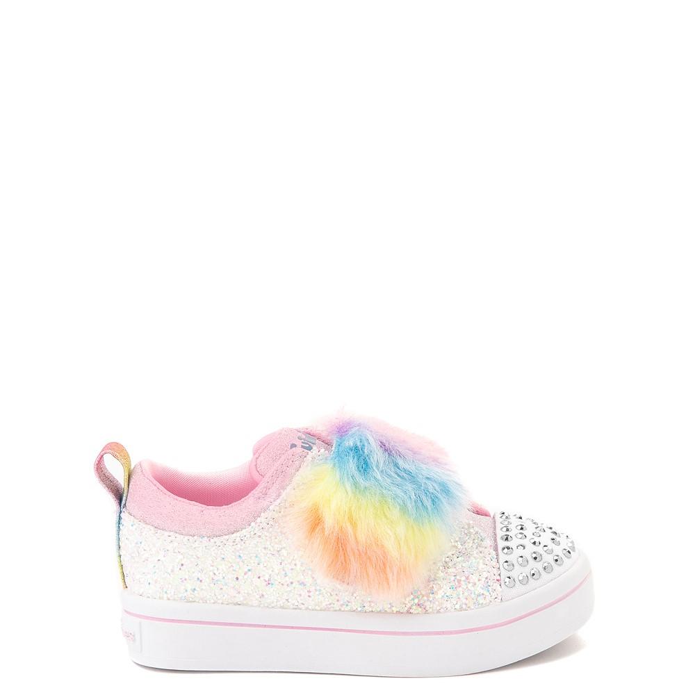 Skechers Twinkle Toes Twi-Lites Ooh La Fur Sneaker - Toddler