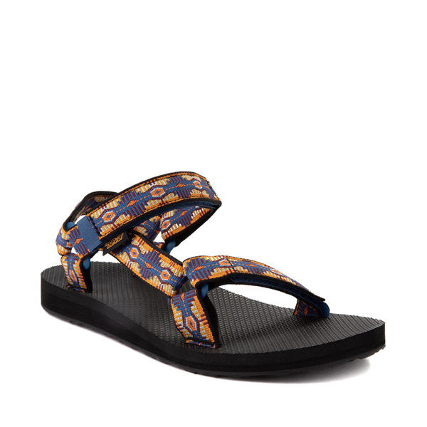 alternate view Womens Teva Original Universal Sandal - Navy / YellowALT5