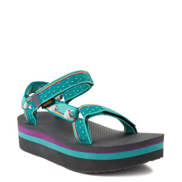 alternate view Womens Teva Flatform Universal Sandal - TealALT1