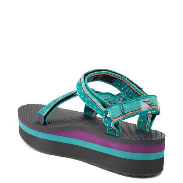 alternate view Womens Teva Flatform Universal Sandal - TealALT2