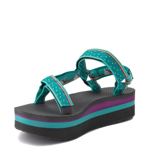 alternate view Womens Teva Flatform Universal Sandal - TealALT3