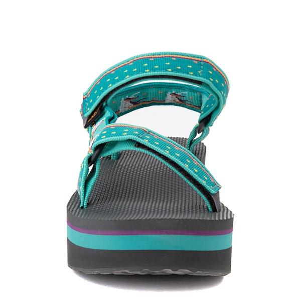 alternate view Womens Teva Flatform Universal Sandal - TealALT4