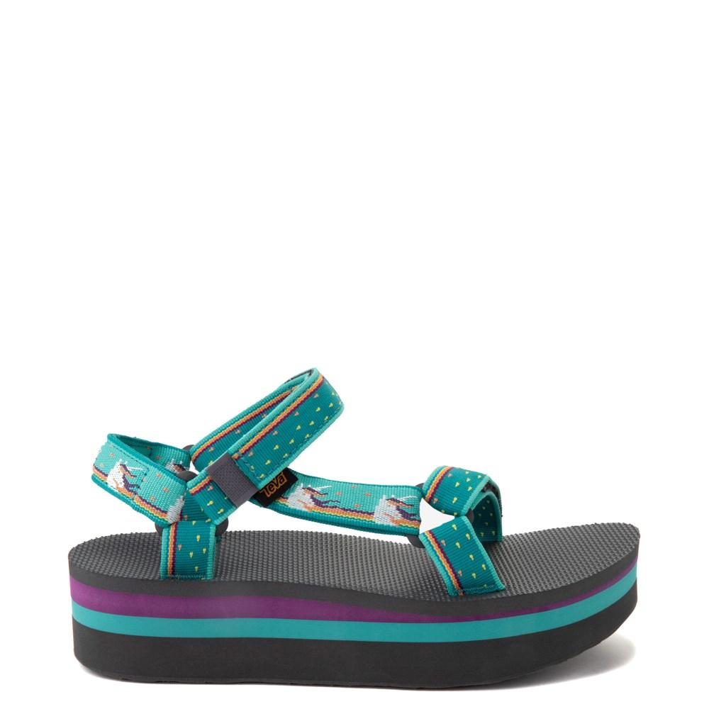 Womens Teva Flatform Universal Sandal - Teal