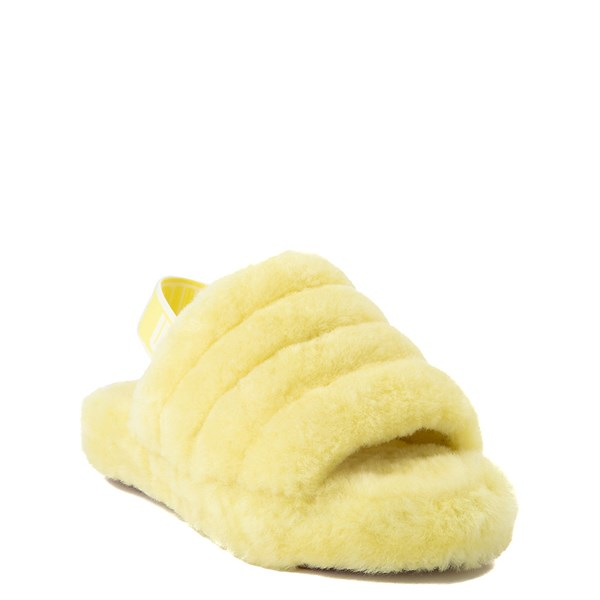 alternate view UGG® Fluff Yeah Slide Sandal - Little Kid / Big Kid - LemonadeALT1