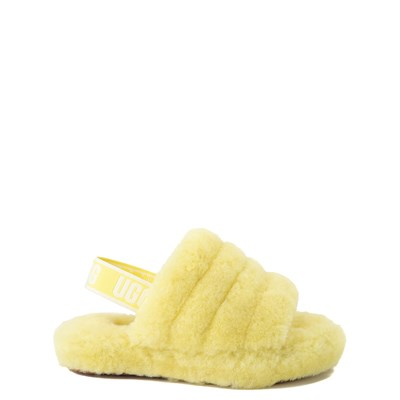 Main view of UGG® Fluff Yeah Slide Sandal - Little Kid / Big Kid - Lemonade