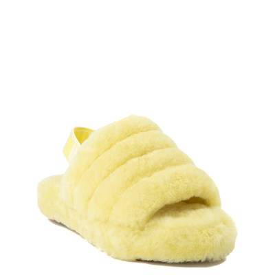 Alternate view of UGG® Fluff Yeah Slide Sandal - Little Kid / Big Kid - Lemonade