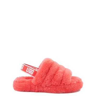 Main view of UGG® Fluff Yeah Slide Sandal - Little Kid / Big Kid - Coral