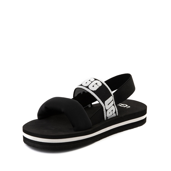 alternate view UGG® Zuma Sling Sandal - Little Kid / Big Kid - BlackALT2