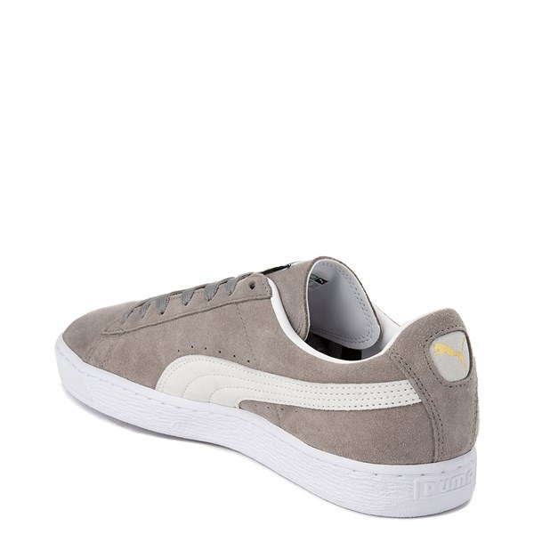 alternate view Mens Puma Suede Athletic Shoe - Gray / WhiteALT2
