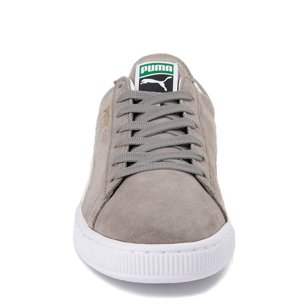 alternate view Mens Puma Suede Athletic Shoe - Gray / WhiteALT4