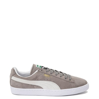 Main view of Mens Puma Suede Athletic Shoe - Gray / White