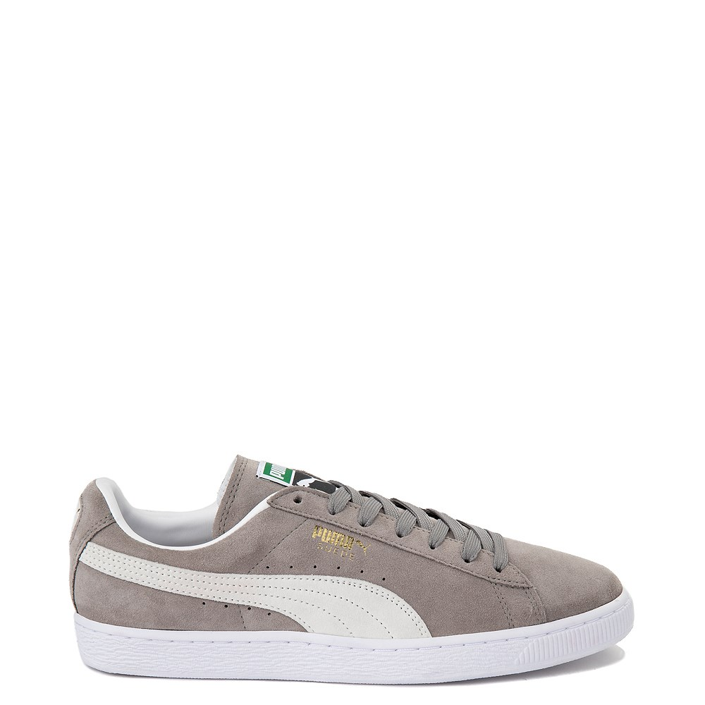 Mens Puma Suede Athletic Shoe - Gray / White