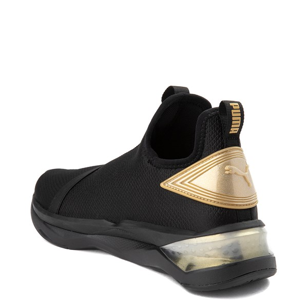 alternate view Womens Puma LQDCELL Shatter Mid Athletic Shoe - Black / GoldALT1