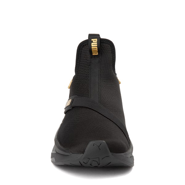alternate view Womens Puma LQDCELL Shatter Mid Athletic Shoe - Black / GoldALT4