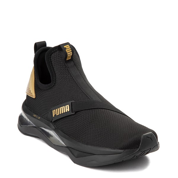 alternate view Womens Puma LQDCELL Shatter Mid Athletic Shoe - Black / GoldALT5