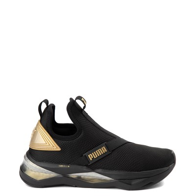 Main view of Womens Puma LQDCELL Shatter Mid Athletic Shoe - Black / Gold