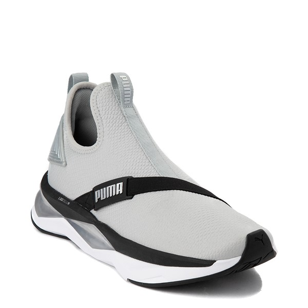 alternate view Womens Puma LQDCELL Shatter Mid Athletic Shoe - Gray / BlackALT5