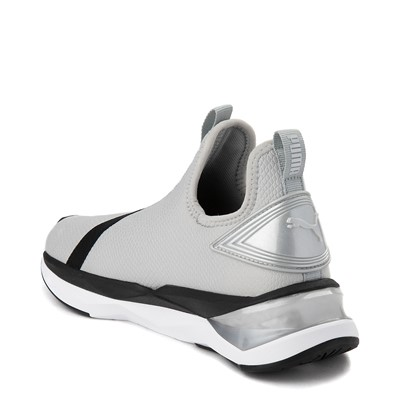 Alternate view of Womens Puma LQDCELL Shatter Mid Athletic Shoe - Gray / Black